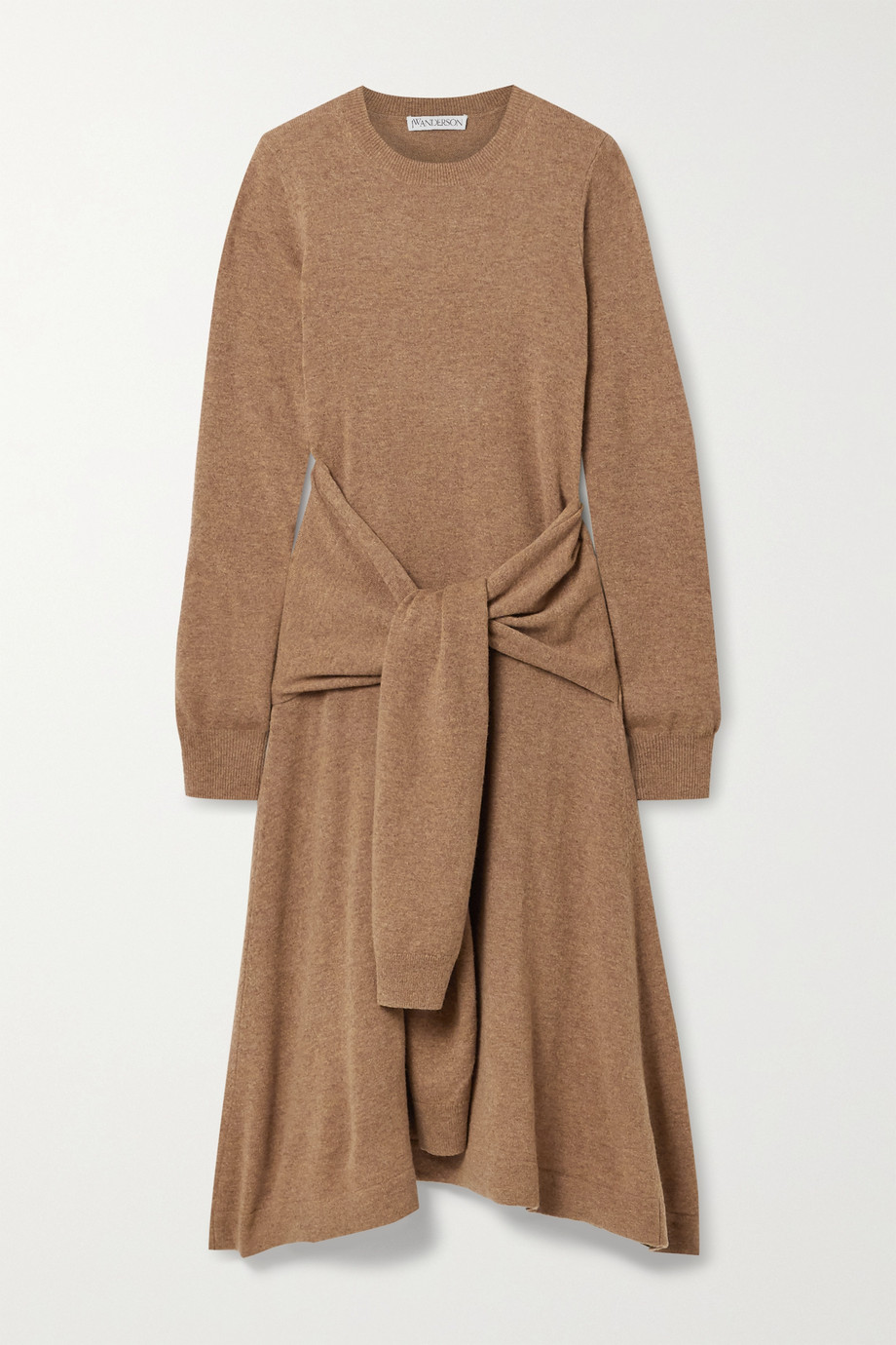 JW Anderson Tie-front wool midi dress