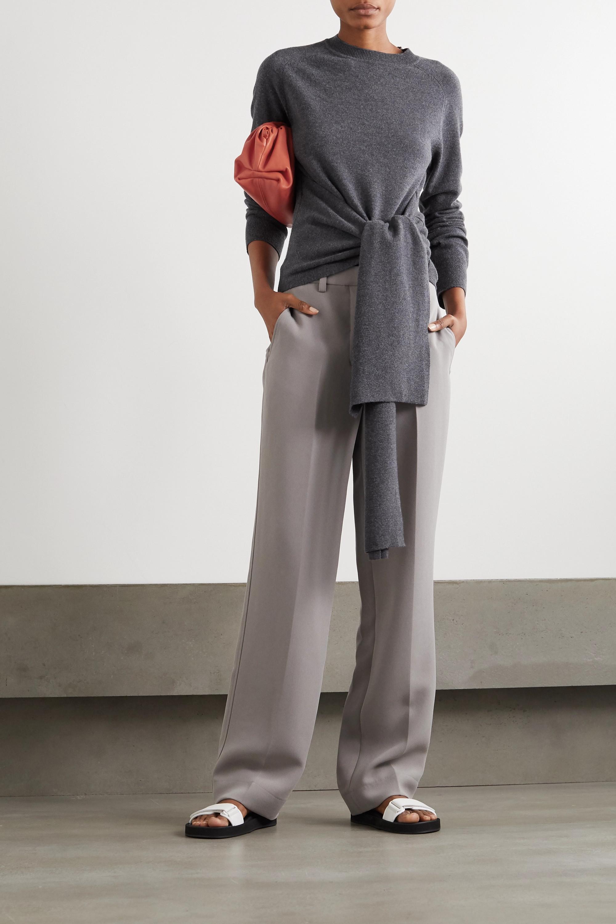 JW Anderson Tie-front merino wool sweater