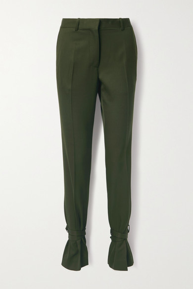 JW Anderson - Bow-embellished Wool Straight-leg Pants