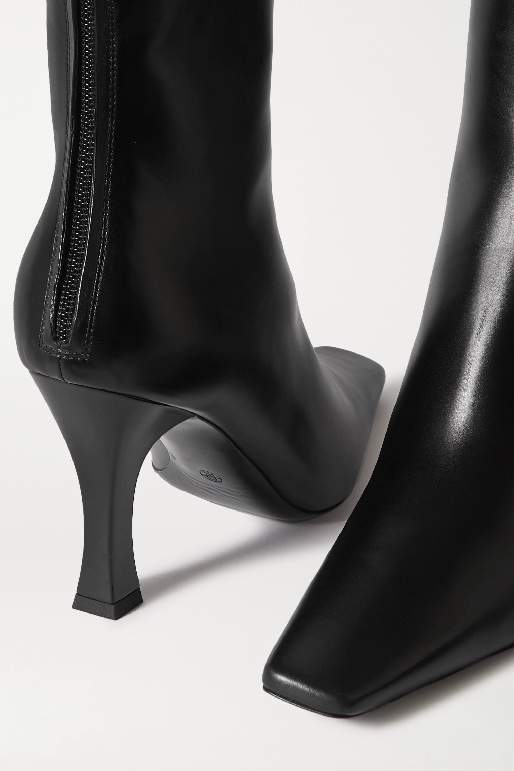 The Row Office leather boots
