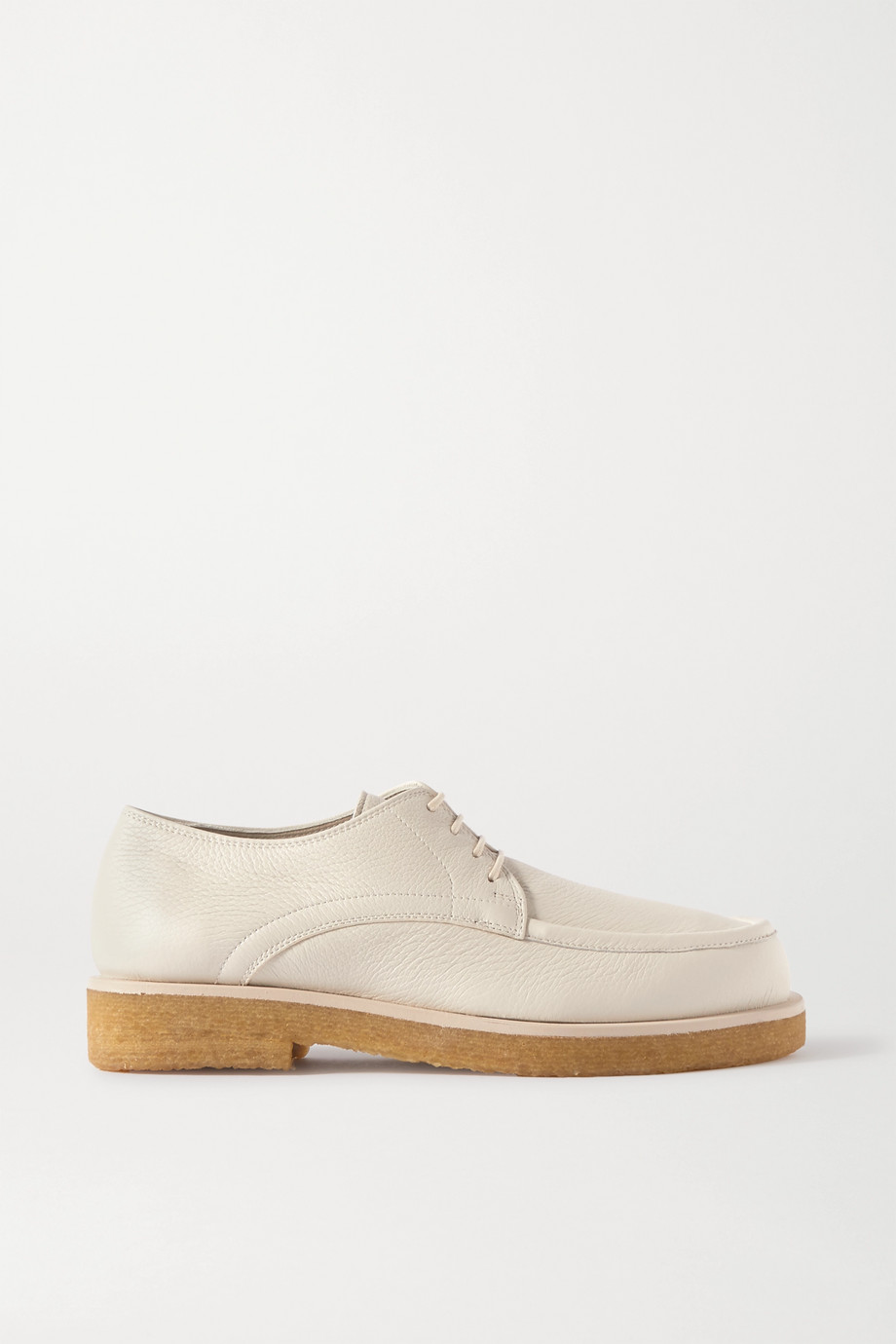 The Row Honore textured-leather brogues