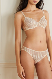 Eres Officielle Leavers lace underwired soft-cup bra
