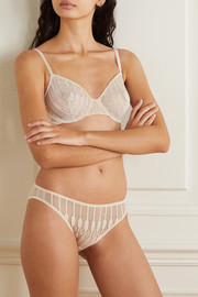 Eres Ebene Leavers lace-trimmed stretch-jersey briefs