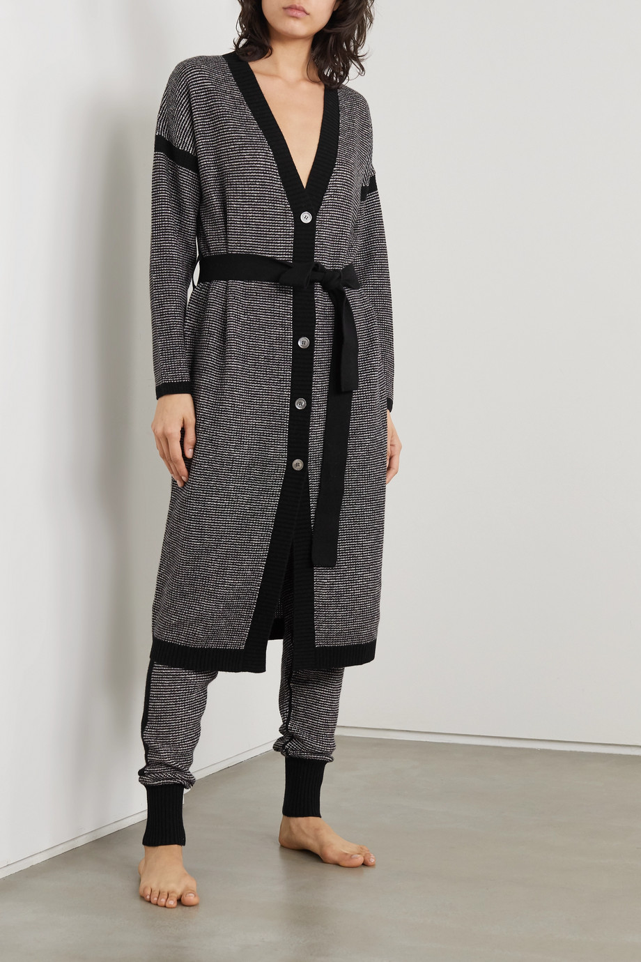 Eres Belted wool and cashmere cardigan