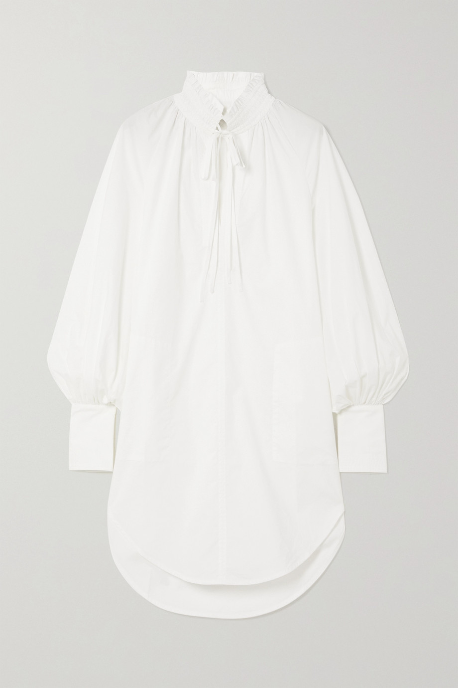 Lee Mathews Sara cotton-poplin tunic