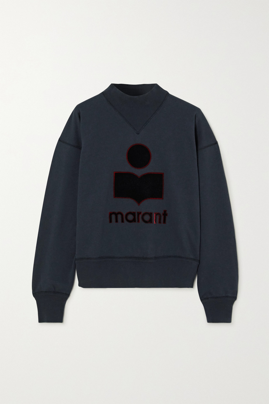 Isabel Marant Étoile Moby flocked cotton-blend jersey sweatshirt