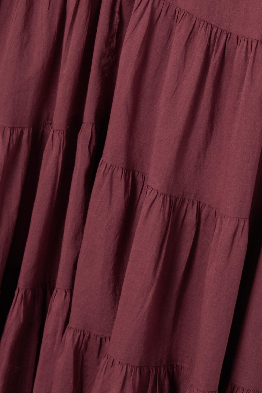 Red Lanikaye Tiered Floral-print Cotton-voile Mini Dress | Isabel Marant Étoile