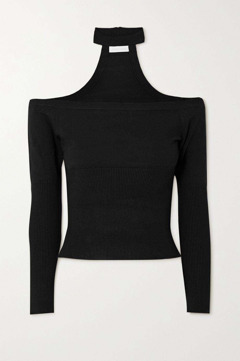 Jonathan Simkhai Lila off-the-shoulder cutout ribbed-knit top