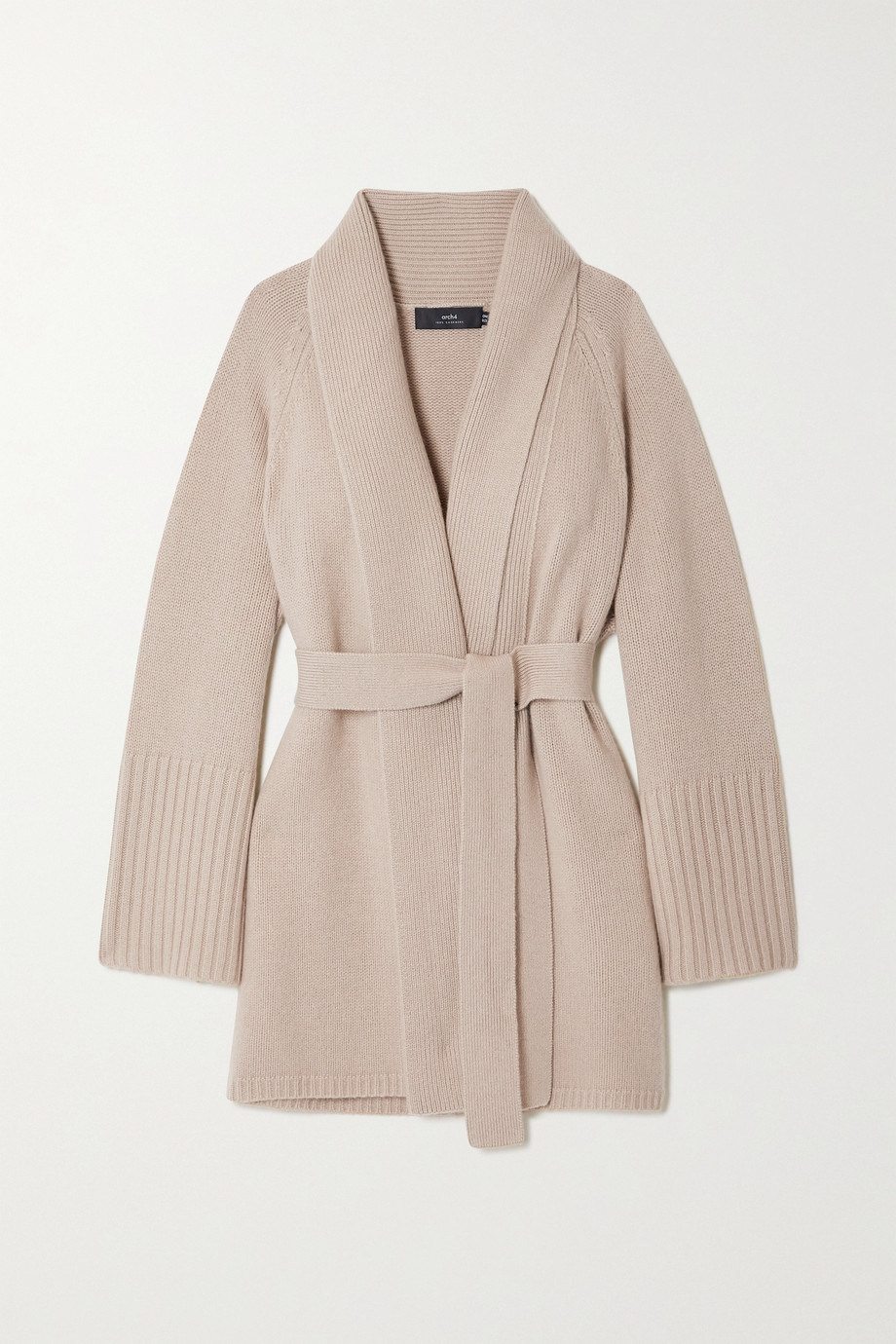 Arch4 + NET SUSTAIN Charlotte Mews belted cashmere cardigan