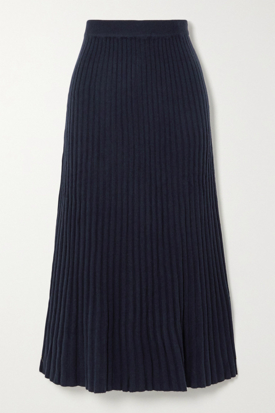 Arch4 Ribbed cashmere midi skirt
