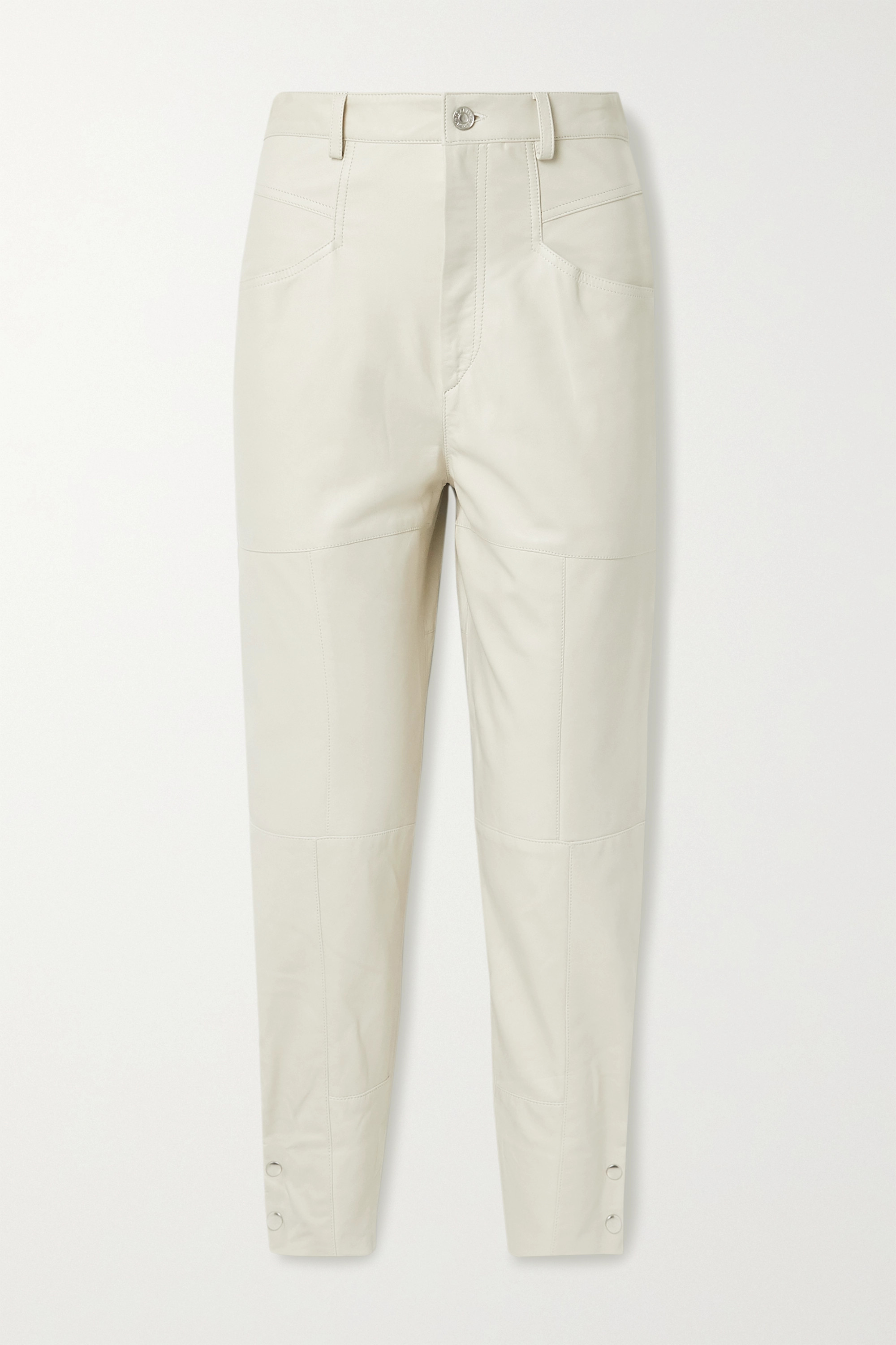 Isabel Marant Xiamao leather tapered pants