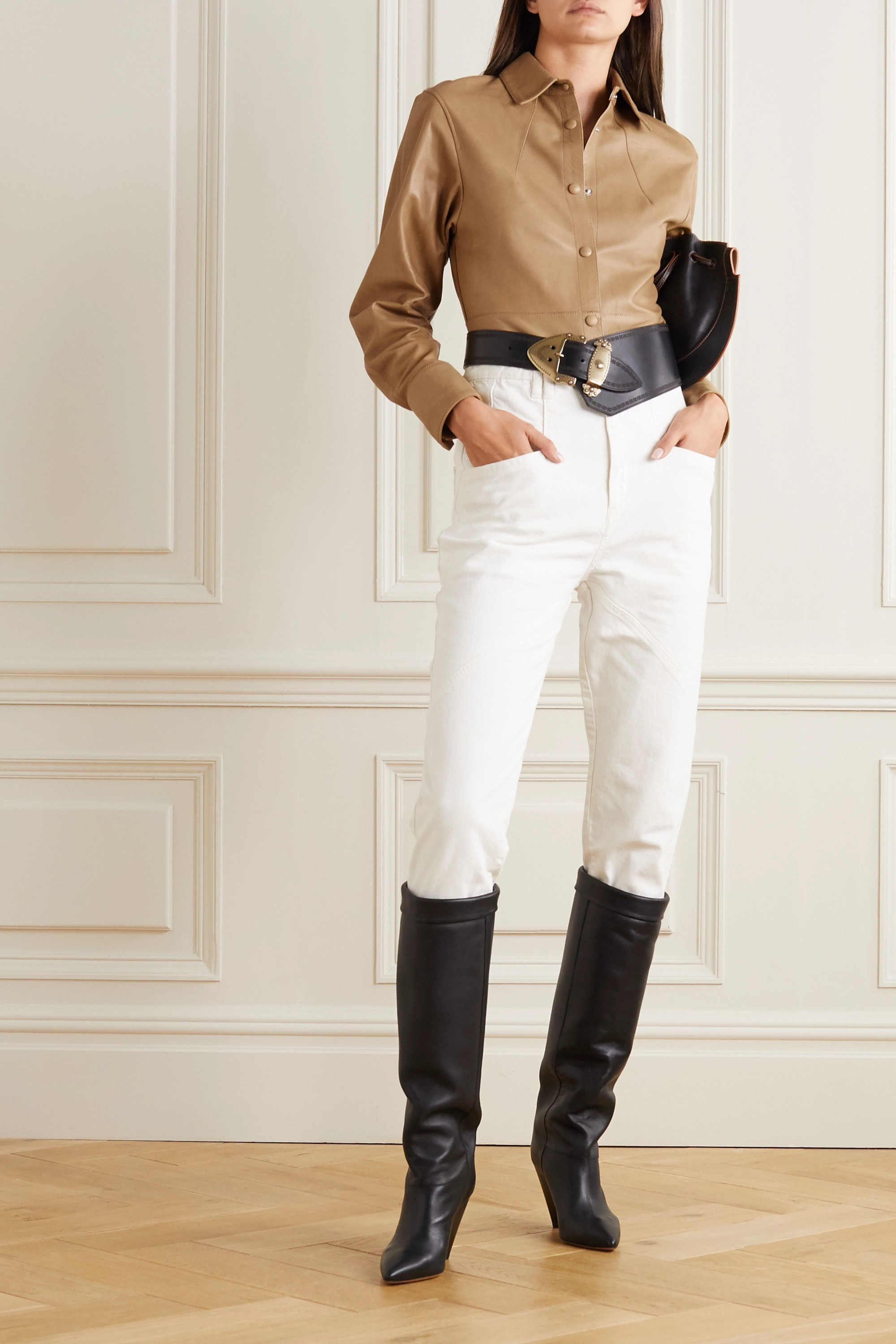 Isabel Marant Xiao leather shirt