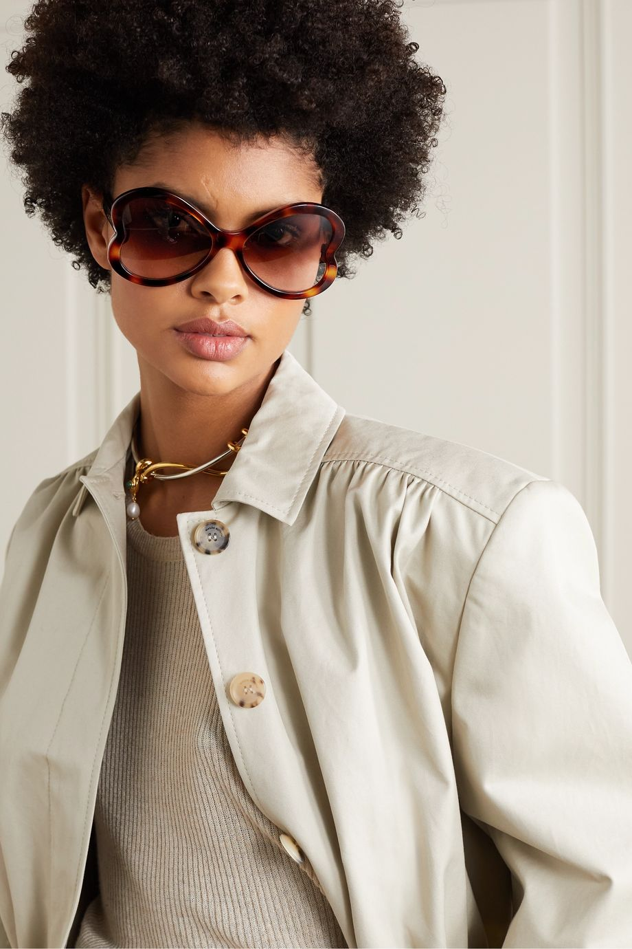 Chloé Bonnie heart-shaped tortoiseshell acetate sunglasses