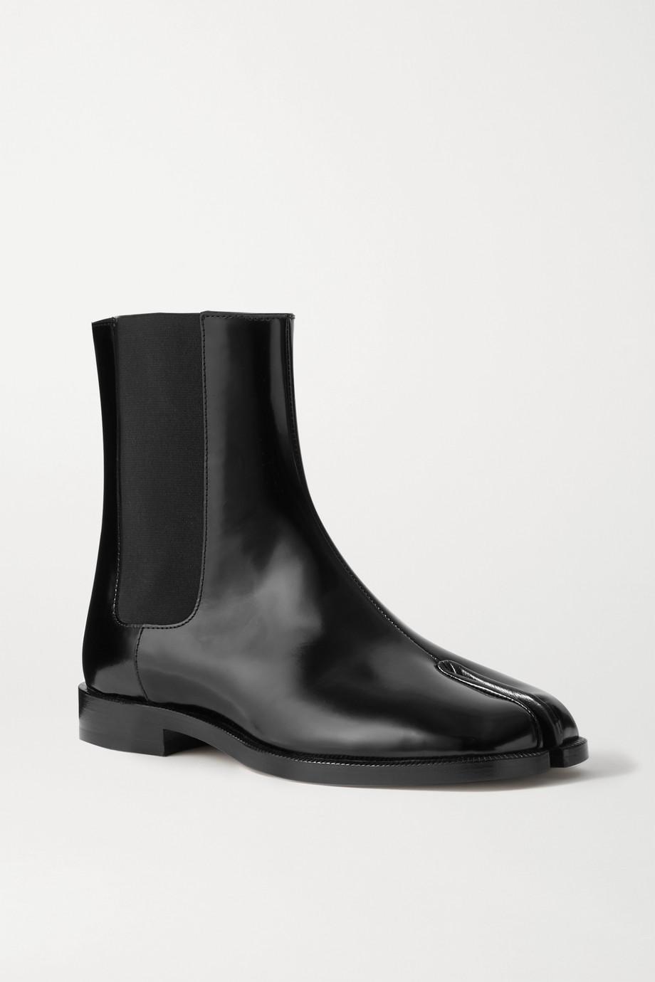 Maison Margiela Tabi Chelsea Boots aus Lackleder mit geteilter Zehenpartie