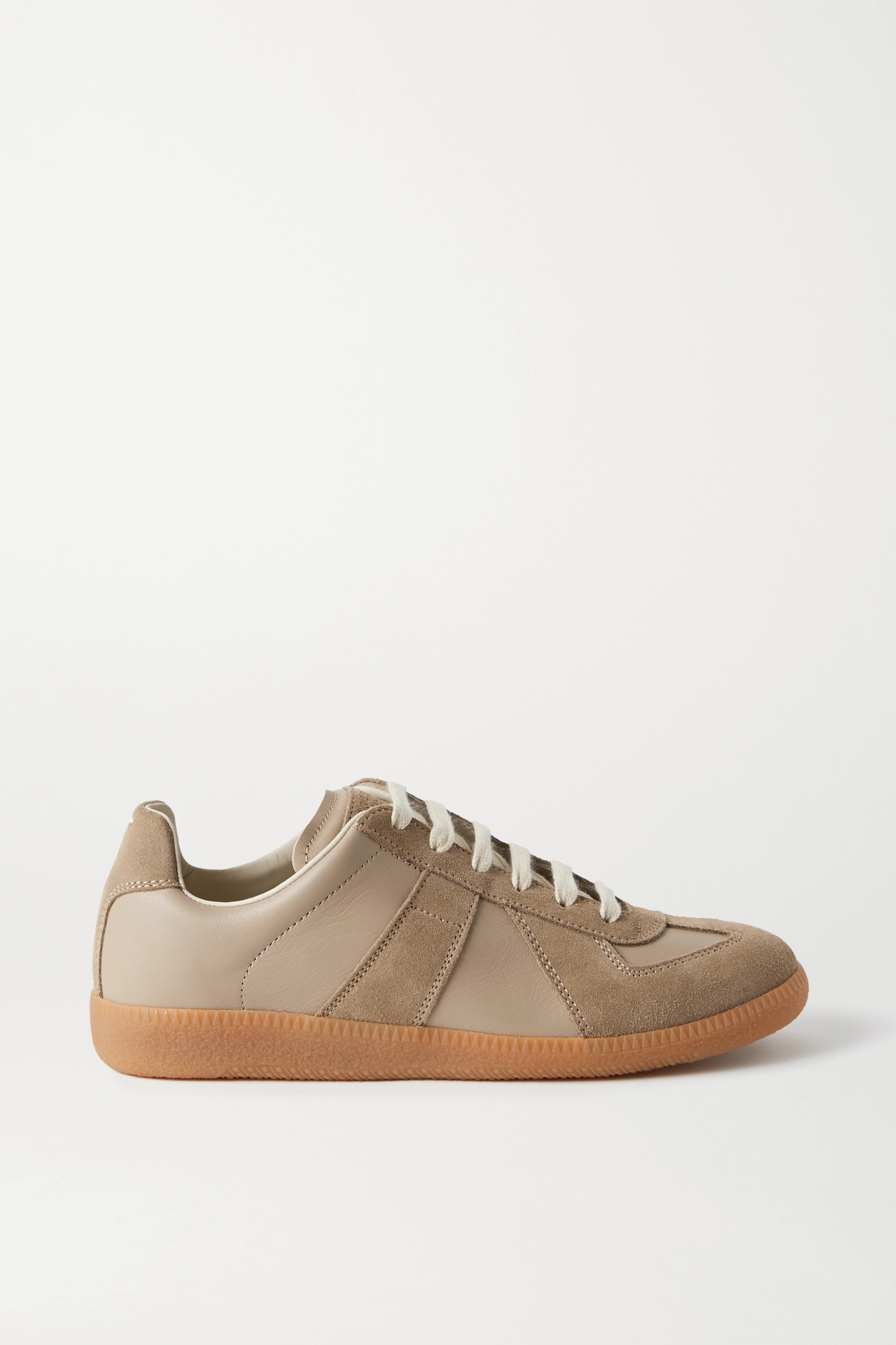 Maison Margiela Replica leather and suede sneakers