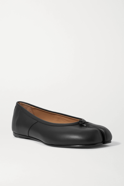 Black Tabi split-toe leather ballet