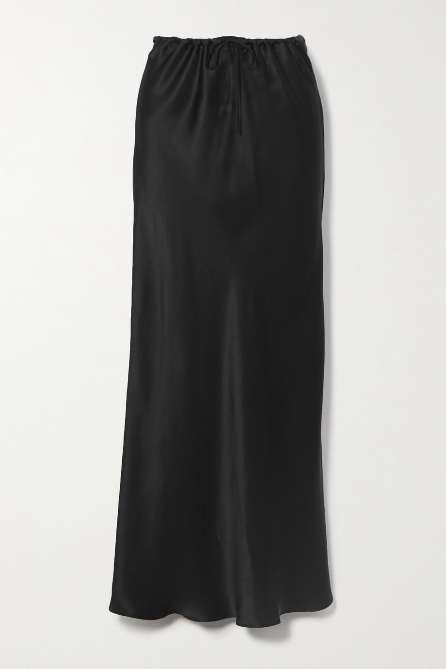 BERNADETTE Emily silk-satin midi skirt