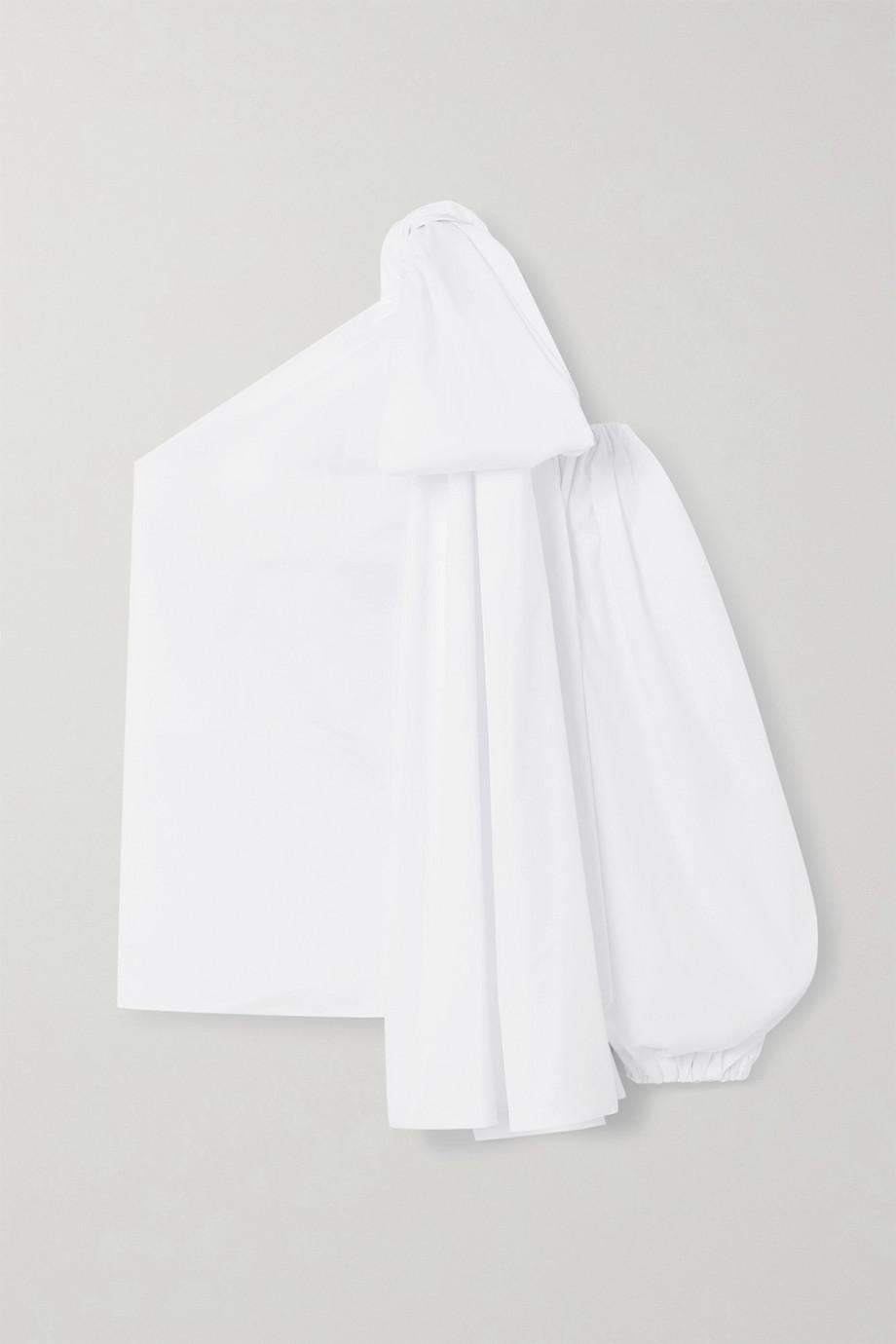 BERNADETTE Tom one-sleeve cotton-blend poplin top