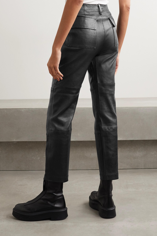 SPRWMN Lederhose mit geradem Bein