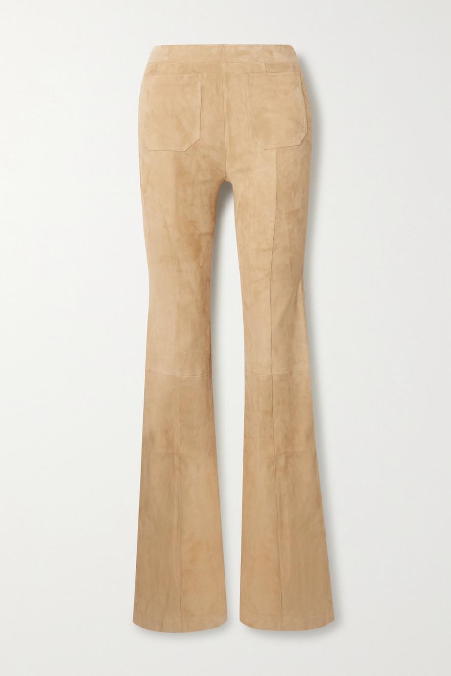 SPRWMN Pantalon évasé en daim