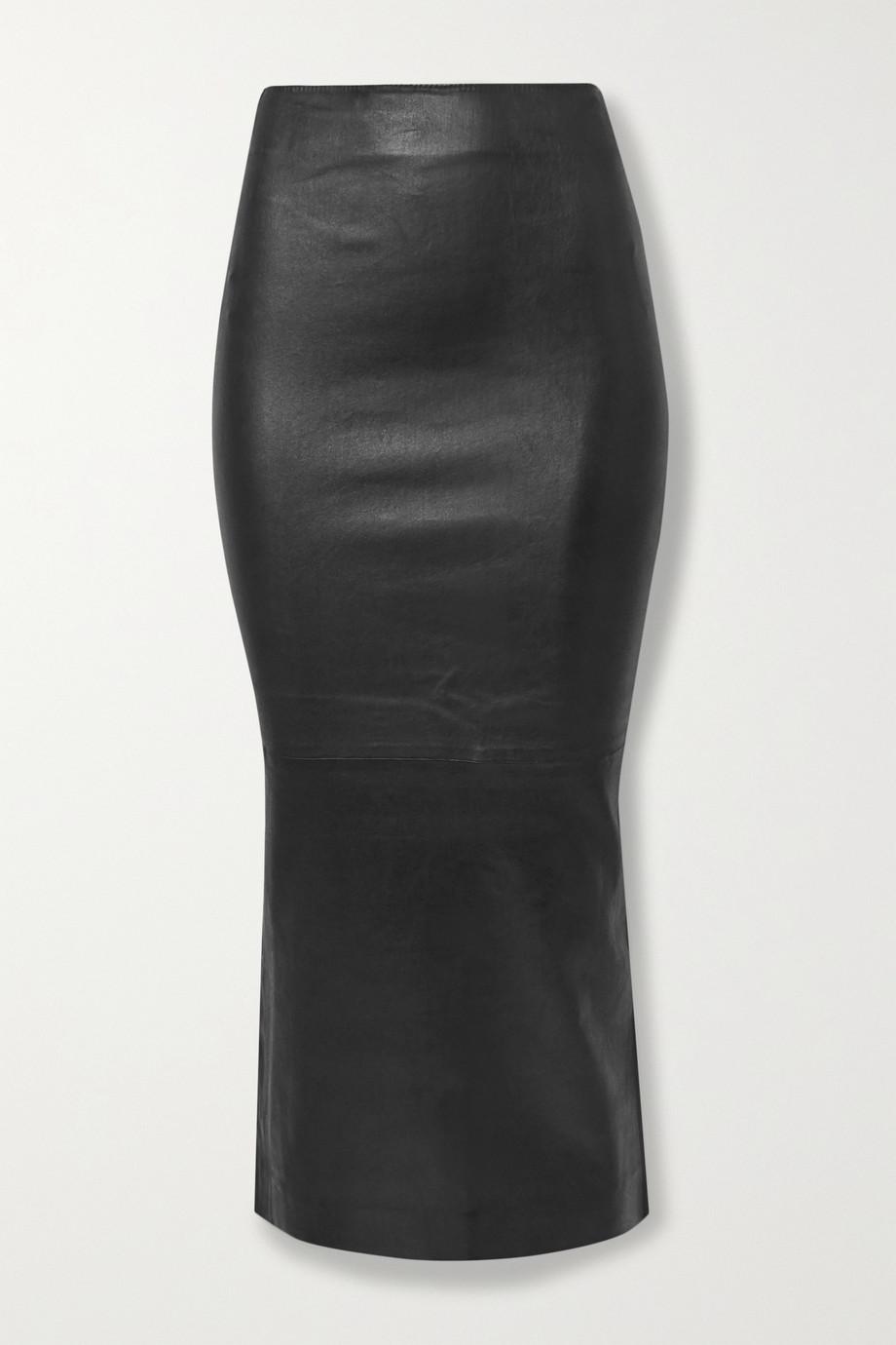 SPRWMN Midirock aus Leder