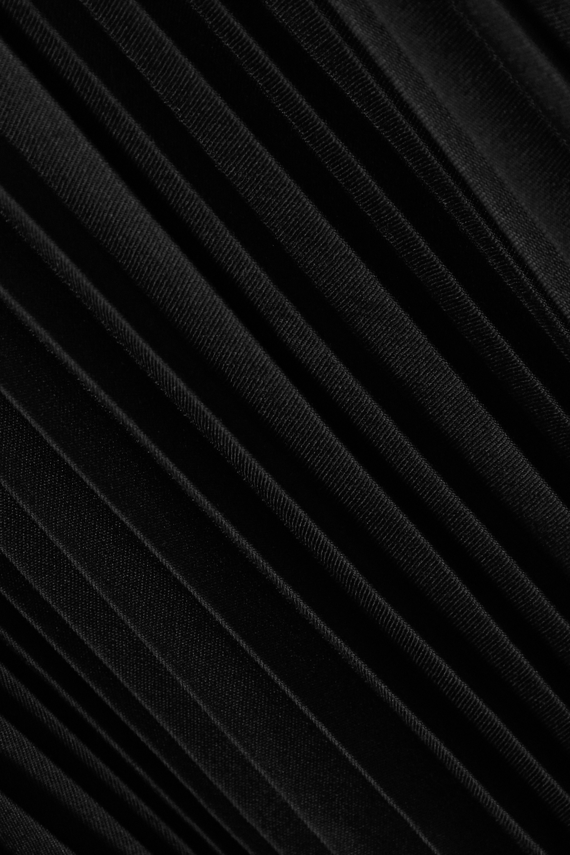 Alaïa Double-breasted pleated woven maxi dress