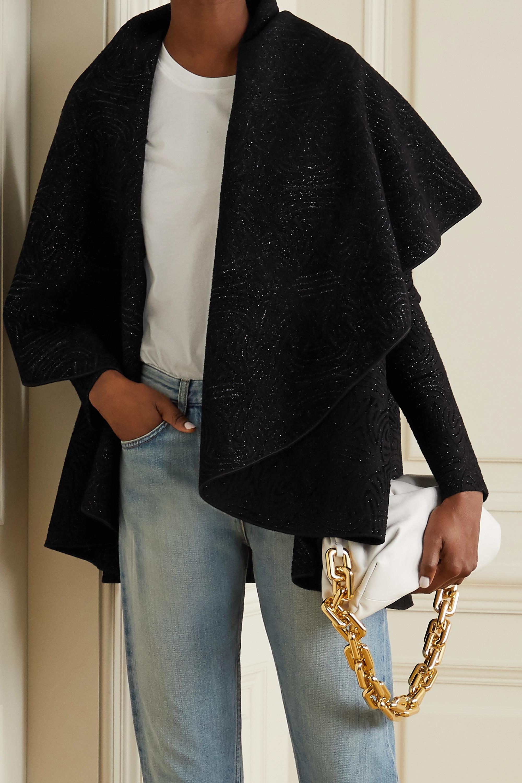 Alaïa Cape-effect metallic jacquard jacket