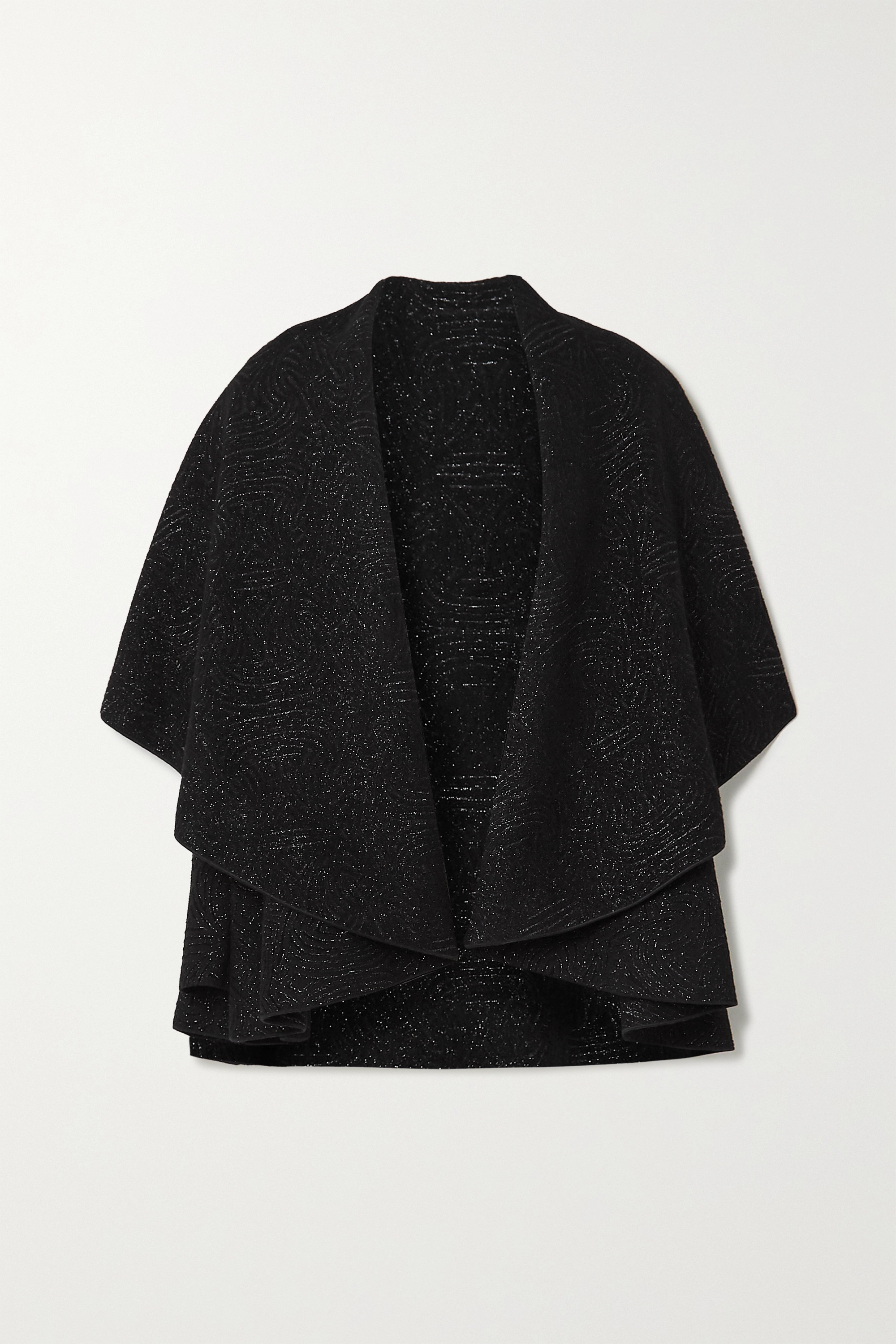 Alaïa Cape-effect metallic jacquard jacket