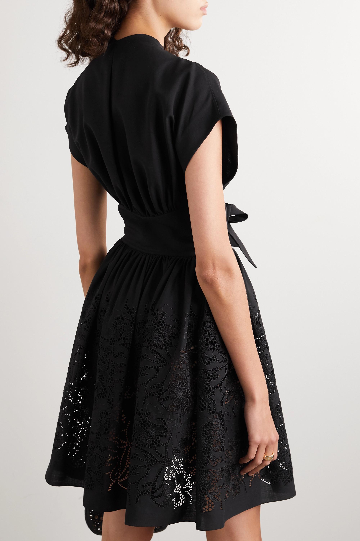 Alaïa Mini-robe en laine découpée au laser à nœuds