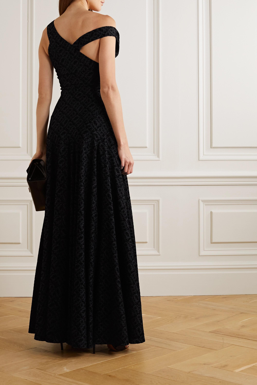 Alaïa Draped flocked wool gown