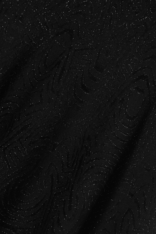Alaïa Minikleid aus Jacquard-Strick in Metallic-Optik