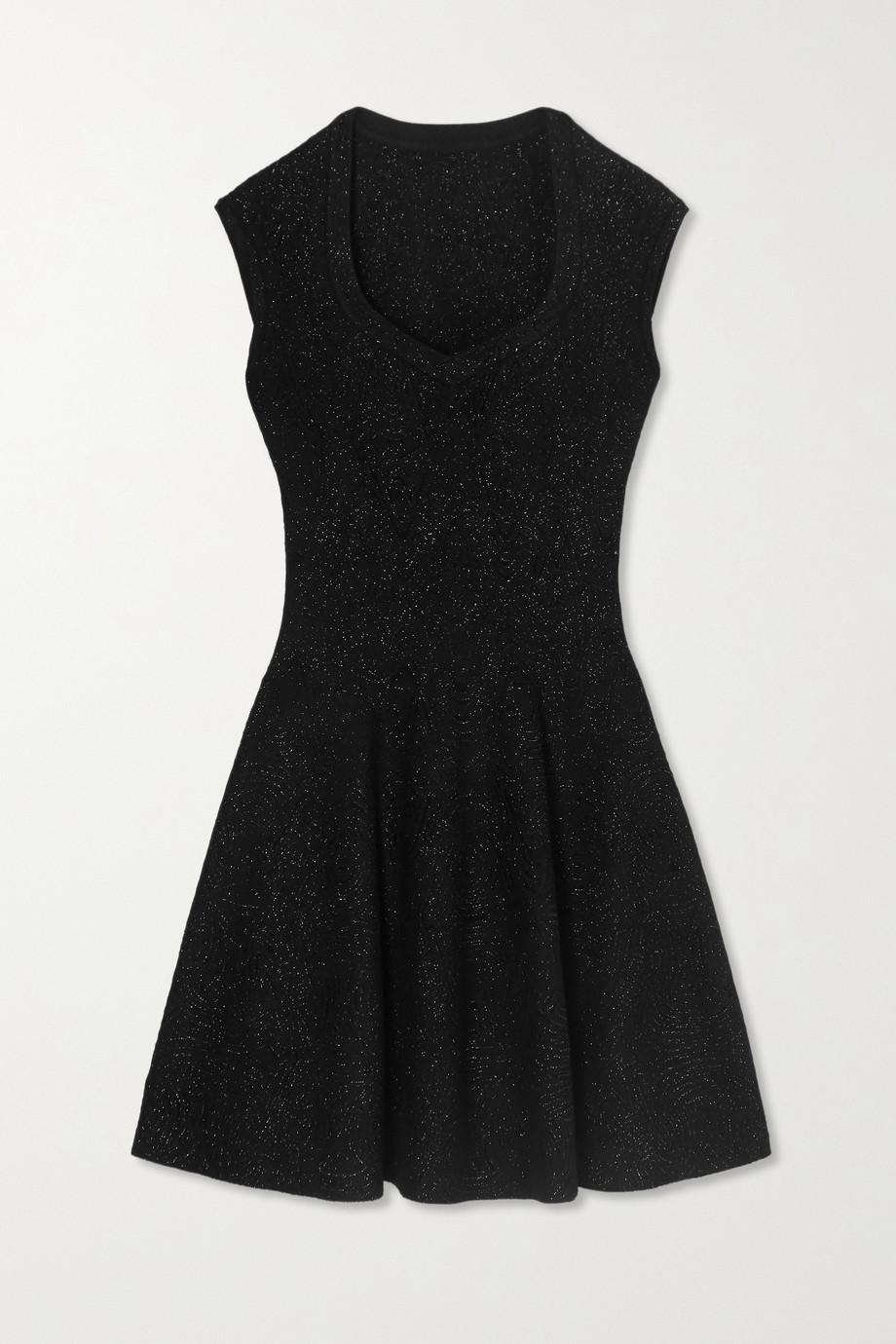 Alaïa Metallic jacquard-knit mini dress