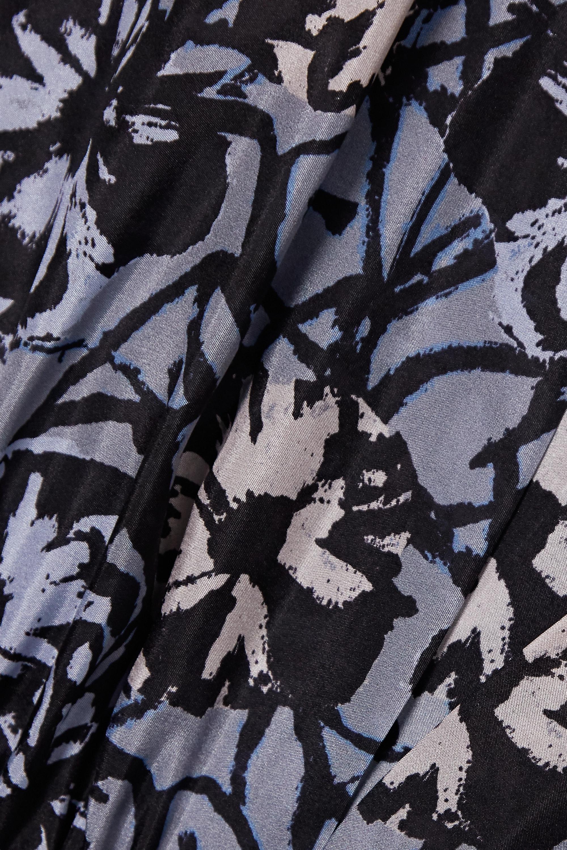 Alaïa Bluse aus Habutai-Seide mit Blumenprint und Gürtel