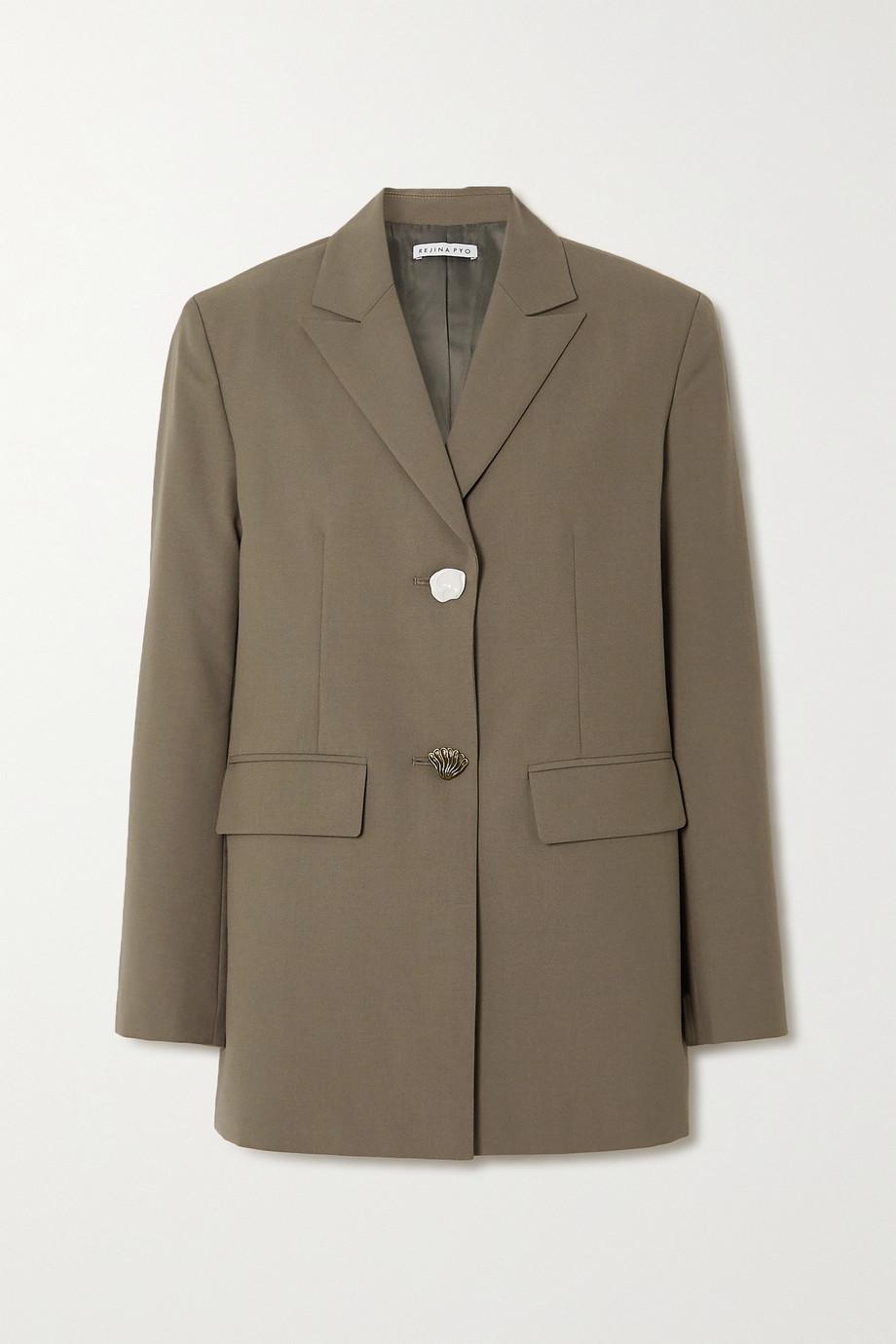REJINA PYO Bowen 羊毛混纺西装外套