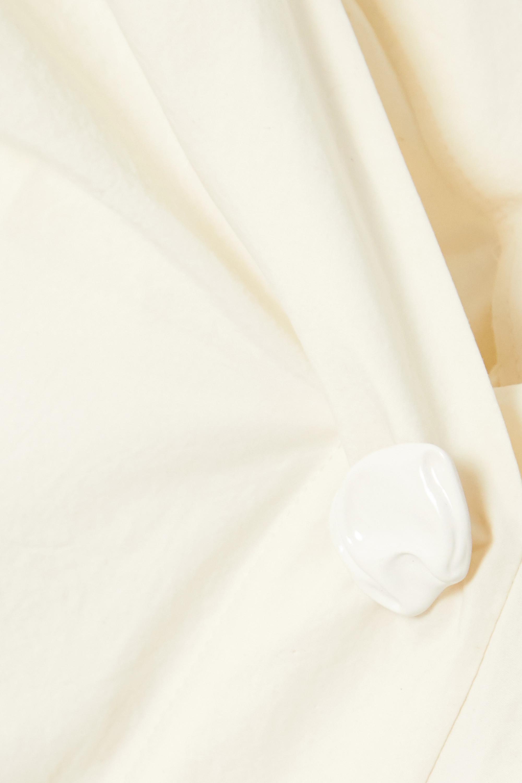 Off-white Miriam Off-the-shoulder Button-embellished Cotton-poplin Blouse | Rejina Pyo