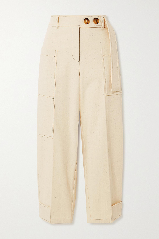 REJINA PYO Sadie cropped cotton-canvas cargo pants