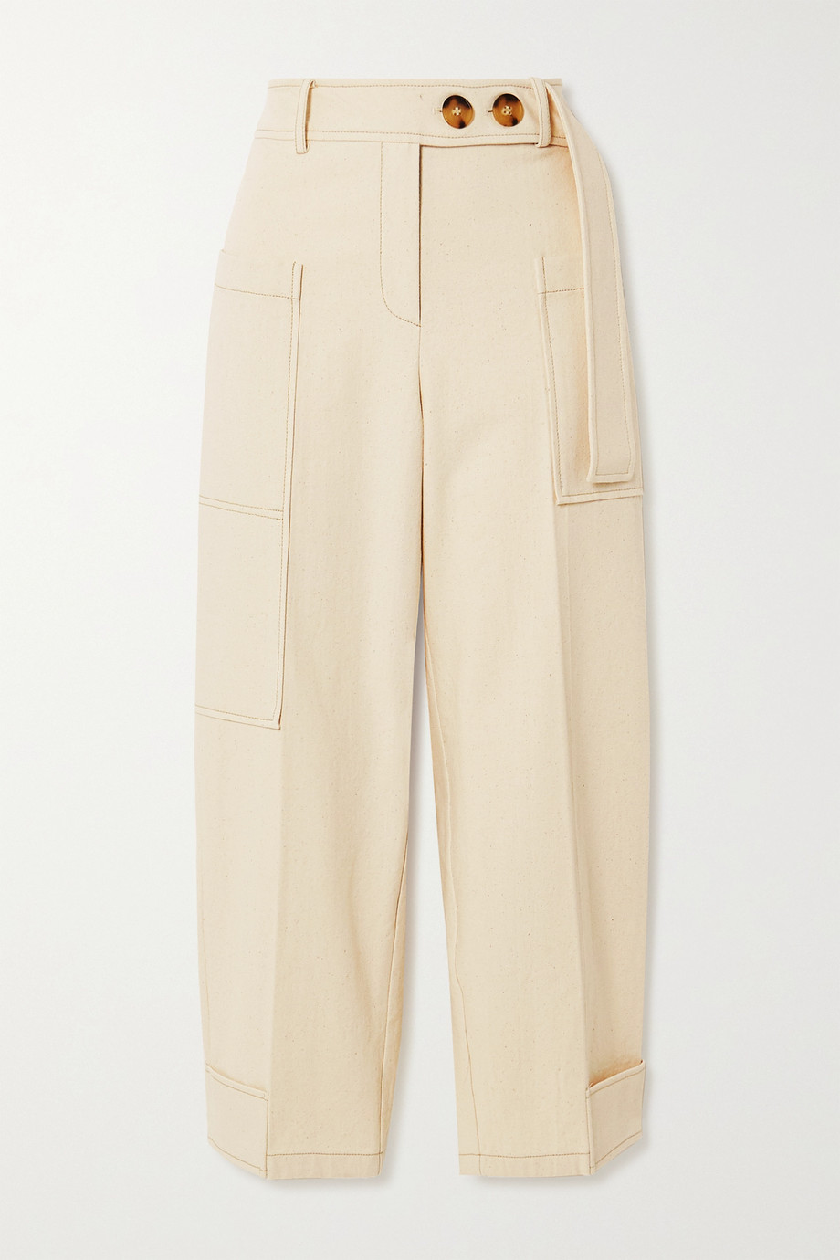 REJINA PYO Sadie cropped cotton-canvas cargo pants