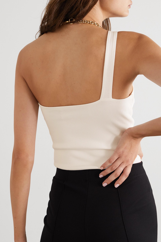 GAUGE81 Rochelle one-shoulder ribbed stretch-jersey bodysuit