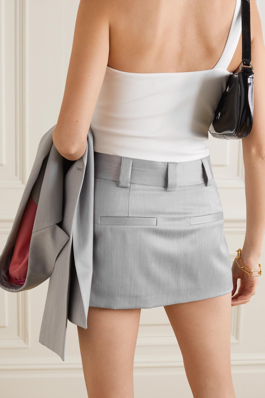 GAUGE81 Xico wool-blend wrap mini skirt