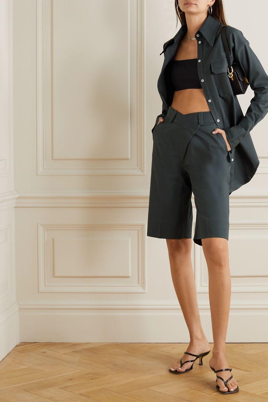 GAUGE81 Soweto asymmetric cotton shorts