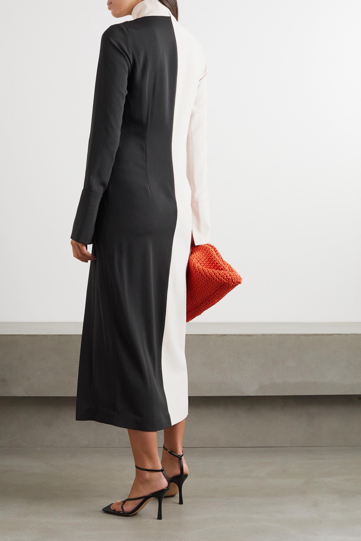 16ARLINGTON Morie two-tone knotted crepe midi dress