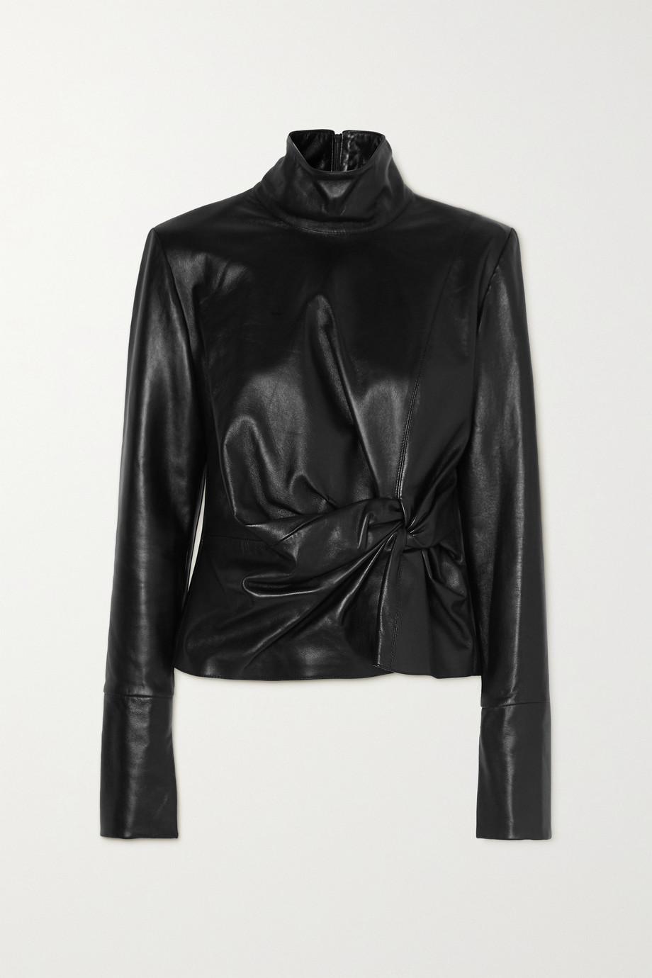 16ARLINGTON Yukie knotted leather top