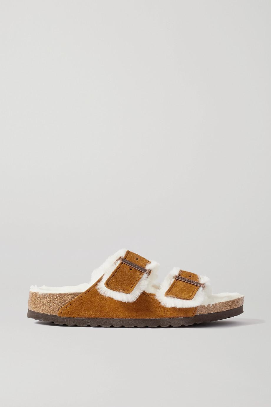 Birkenstock Arizona shearling-lined suede sandals