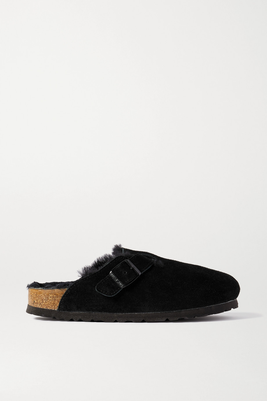 Birkenstock Boston shearling-lined suede slippers