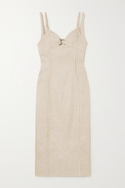 Jacquemus Valerie cutout canvas midi dress