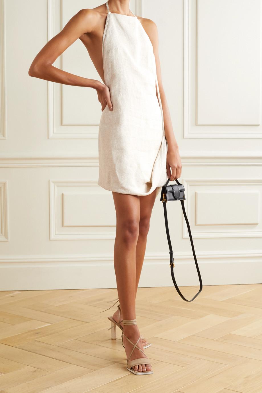 Jacquemus Figuerolles draped woven halterneck mini dress