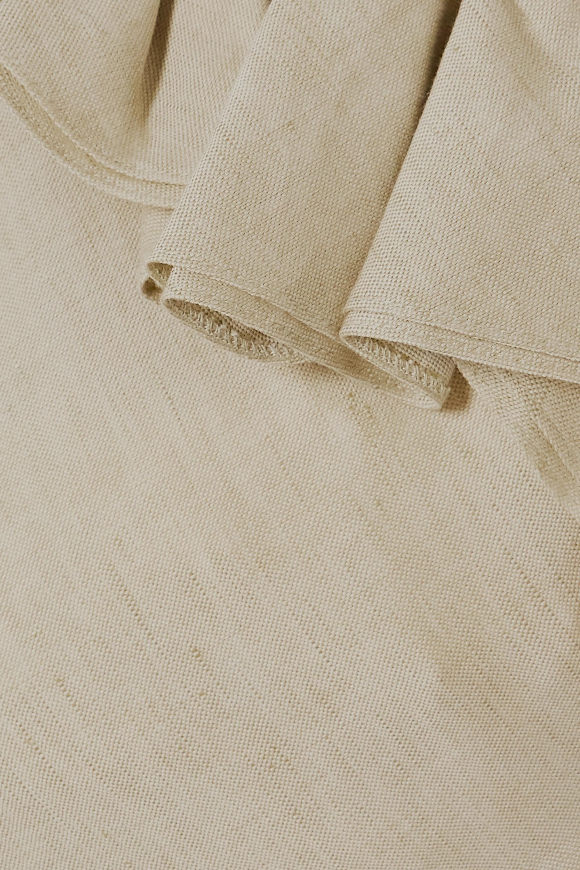 Jacquemus Pampelonne cold-shoulder ruffled cotton and linen-blend midi dress