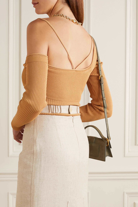 Jacquemus La Maille cold-shoulder ribbed-knit top