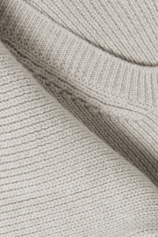 Jacquemus Pull en laine mérinos côtelée à superpositions Risoul