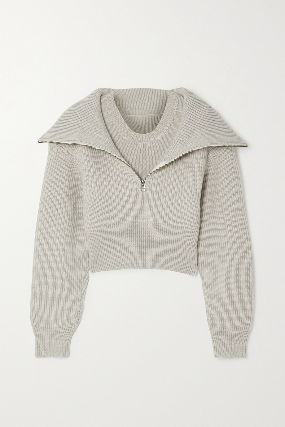 Jacquemus Risoul layered ribbed merino wool sweater